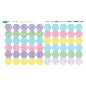 Pastel Hexies Fabric Panel: 70cm x 38cm. Exclusive