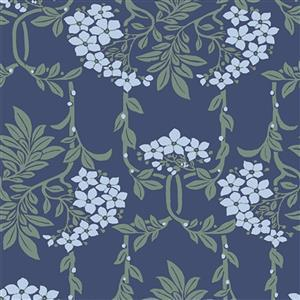 Liberty Hesketh House Collection in Blue Nouveau Mayflower Fabric 0.5m