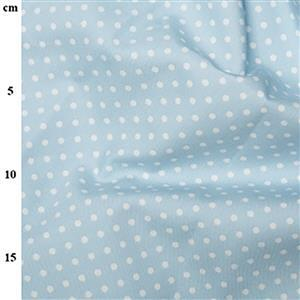 Rose and Hubble Cotton Poplin Spots on Powder Fabric 0.5m