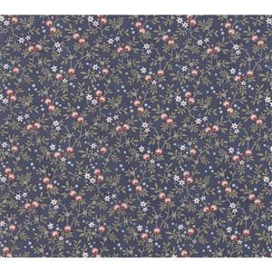 Moda Daybreak Nest Evening on Navy Fabric 0.5m