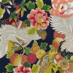 Tokiwa in Navy Metallic Fabric 0.5m