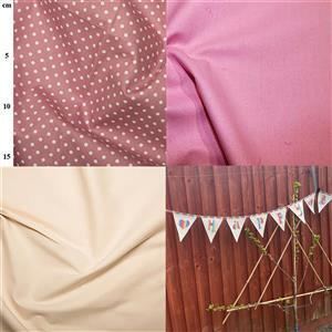 Mabel & Deb's Happy Birthday Pink Bunting Kit: Instructions & Fabric (1.5m)