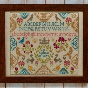 The Cross Stitch Guild Token of Love Sampler on Linen