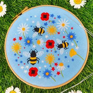 Oh Sew Bootiful Bees & Wildflowers Embroidery Kit