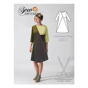 Sew Different Colourblock Dress Pattern  Sizes 8-26