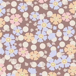 Tilda Plum Garden in Windflower Nutmeg Fabric 0.5m
