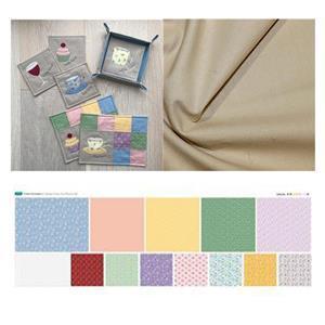 Victoria Carrington's Applique Coaster & Placemat Kit: Instructions, Fabric x 0.5m & Panel