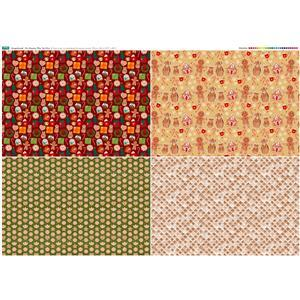 Christmas Fat Quarter Gingerbreadman Panel 140cm x 106cm