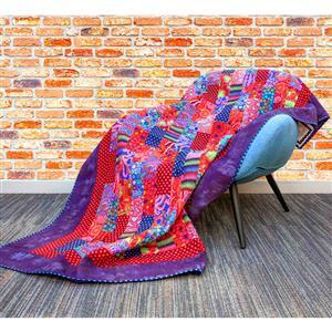 Kaffe Fassett Purple Bricks Quilt Kit 145 x 215cm