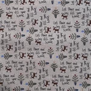 Lynette Anderson Peace & Joy Brown Sugar Fabric 0.5m