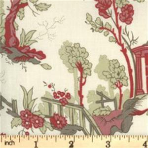 Moda Jardin De Fleurs Cream Garden Fabric 0.5m