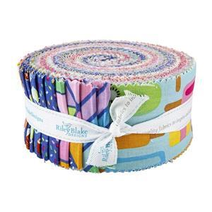 Riley Blake Rainbow Fruit Design Roll Pack of 40 Pieces