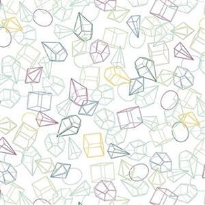 Michael Miller Greenhouse Gardens in Shapes Multi Fabric 0.5m