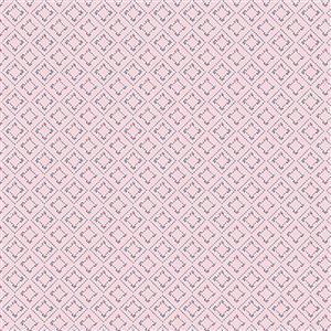 Riley Blake Idyllic Squares Pink Fabric 0.5m