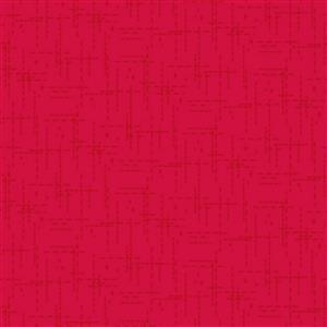 Stitched Effect Red Fabric 0.5m