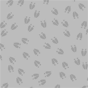 Little Critters Bear Paws On Grey Fabric 0.5m