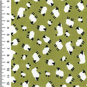 Green Cotton Poplin Fabric 0.5m