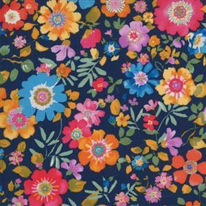 Moda Lulu in Midnight Blue Floral Fabric 0.5m