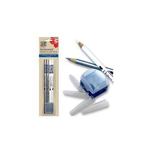 Early Bird Special - Colonial Roxanne Quilters Pencil Set: Pencils, Sharpener & Caps. Save £3
