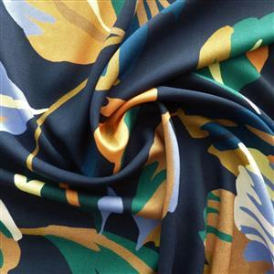 Artsy Leaf Viscose Fabric 0.5m