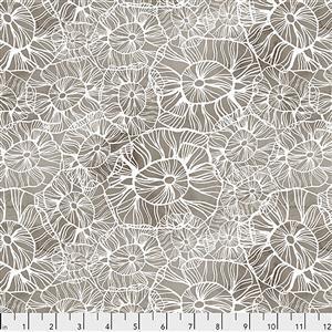 Shell Rummel Time & Tide Sea Flower Mocha Fabric 0.5m