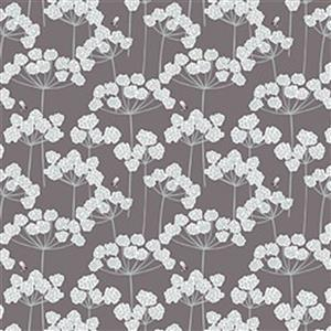 Lewis & Irene Country Life Reloved Brown Wildflower Fabric 0.5m