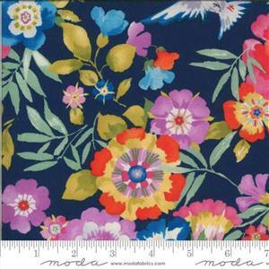 Moda Lulu in Large Midnight Blue Floral Fabric 0.5m