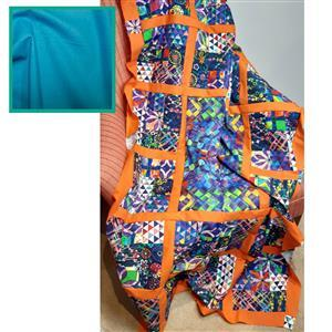 Suzie Duncan's Geofetti Peacock Quilt Kit: Instructions, Fabric Panel, FQ (7pcs) & Fabric (1m)