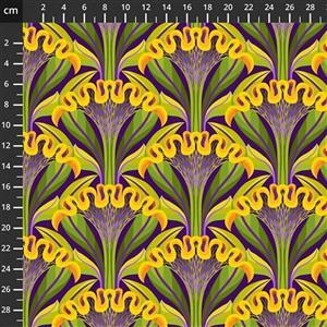 Sassy Summer Salsa Yellow Marigold Fabric 0.5m