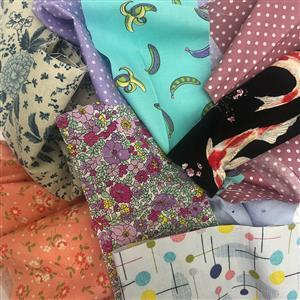 Early Bird Special - 2kg Mixed Fabric Bag of Scraps & Remnants