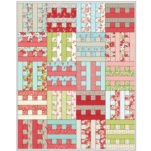 Sally Stevens Castellations Quilt Kit: Instructions & Moda 40 Piece Jelly Roll