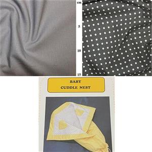 Allison Maryon's Neutral Grey Baby Cuddle Nest Kit: Instructions & Fabric (2m)