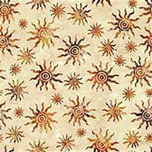 Dan Morris South West Reflections Bohemian Sun Burst Fabric 0.5m
