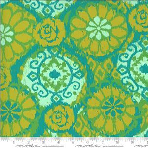 Moda Kasada Ikat Yellow Fabric 0.5m