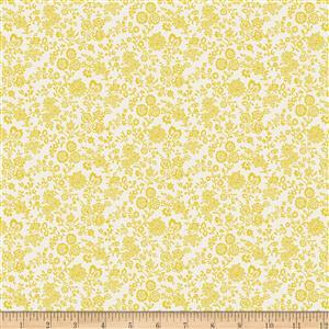 Liberty Summer House Collection in Yellow Hampton Vines Fabric 0.5m