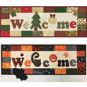 Village Fabrics - Welcome Sign Holiday Pattern