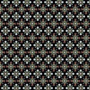 Poppie Cotton Chick-A-Doodle-Doo Café Curtains on Black Fabric 0.5m UK exclusive