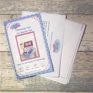 Fabulously Fast Fat Quarter Fun; Issue 14 - Sew Ready For Gardening Pattern Booklet and A3 Templates