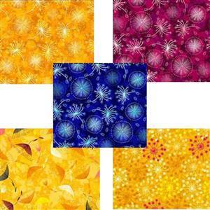 Flowers In The Wind FQ Bundle (5pcs)