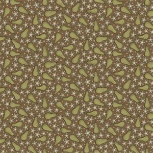 Anni Down On the 12th Pears Brown Fabric 0.5m)