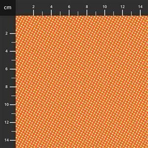 Henry Glass Wild & Free Mini Orange Spots Fabric 0.5m