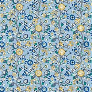 Liberty Emporium Collection Discovery Tree Sky Fabric 0.5m