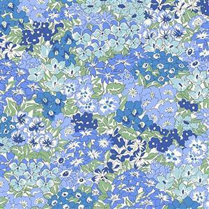 Liberty Orchard Garden Collection Blue Wisely Grove Fabric 0.5m