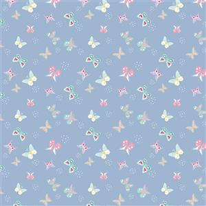Riley Blake Poppy & Posey in Periwinkle Butterfly Fabric 0.5m