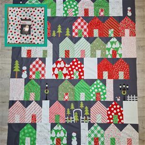 Moda Holiday Christmas - Christmas in Quiltsburgh Quilt Kit (55 x 66.5 inches): Instructions, Charm Pack, FQ Pack (4pcs) & Fabric (2m)