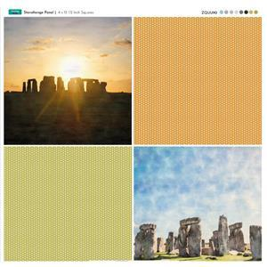 Panel of the Week Stonehenge Fabric Panel 4 x 13.5 Inch Squares - Special Price