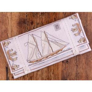 The Cross Stitch Guild A Travellers' Stitching Pocket Kit On Linen