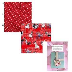 Joie De Vivre Helen Newton's Messenger Tote Bag Kit, Instructions, Fabric (1.5m)
