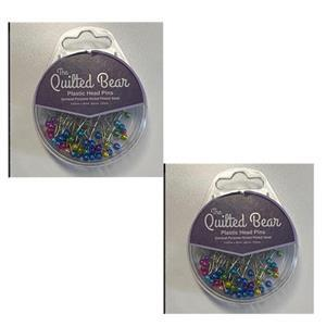 2 x Plastic Head Pins Assorted Colours. Special Price