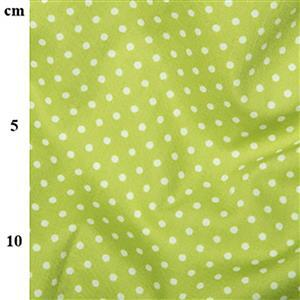 Rose and Hubble Cotton Poplin Spots on Lime Fabric 0.5m
